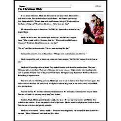 Print <i>The Christmas Wish</i> reading comprehension.