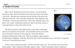 Print <i>A Model of Earth</i> reading comprehension.