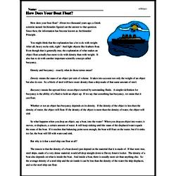 Print <i>How Does Your Boat Float?</i> reading comprehension.