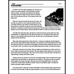 Print <i>Westward Ho!</i> reading comprehension.