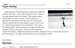 Print <i>Figure Skating</i> reading comprehension.