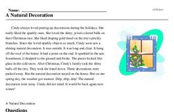 Print <i>A Natural Decoration</i> reading comprehension.