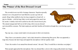Print <i>The Winner of the Best Dressed Award</i> reading comprehension.