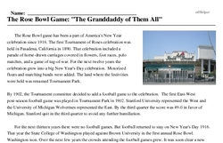 Print <i>The Rose Bowl Game: