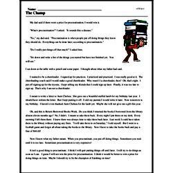Print <i>The Champ</i> reading comprehension.