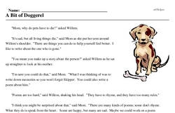 Print <i>A Bit of Doggerel</i> reading comprehension.