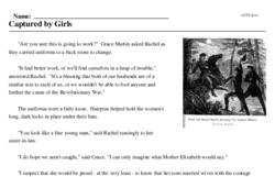 Print <i>Captured by Girls</i> reading comprehension.