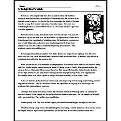 Print <i>A Teddy Bear's Wish</i> reading comprehension.