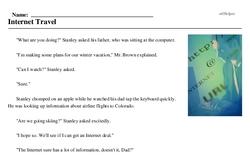 Print <i>Internet Travel</i> reading comprehension.