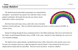 Print <i>Lunar Rainbow</i> reading comprehension.
