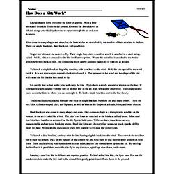 Print <i>How Does a Kite Work?</i> reading comprehension.