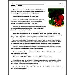 Print <i>Jamie's Dream</i> reading comprehension.
