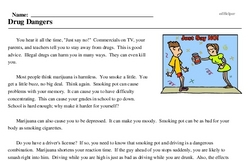 Print <i>Drug Dangers</i> reading comprehension.