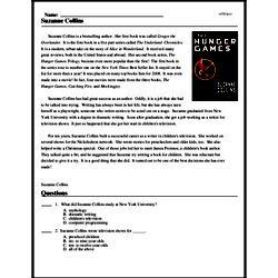 Print <i>Suzanne Collins</i> reading comprehension.
