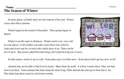 Print <i>The Season of Winter</i> reading comprehension.