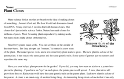 Print <i>Plant Clones</i> reading comprehension.