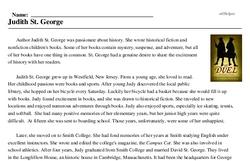 Print <i>Judith St. George</i> reading comprehension.