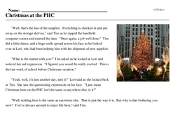 Print <i>Christmas at the PHC</i> reading comprehension.
