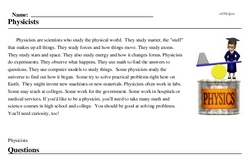 Print <i>Physicists</i> reading comprehension.