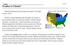 Print <i>Weather or Climate?</i> reading comprehension.