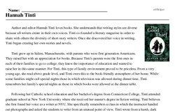 Print <i>Hannah Tinti</i> reading comprehension.