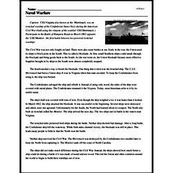 Print <i>Naval Warfare</i> reading comprehension.