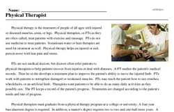 Print <i>Physical Therapist</i> reading comprehension.