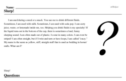 Print <i>Slurp!</i> reading comprehension.