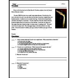 Print <i><i>Troodon</i></i> reading comprehension.