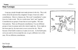 Print <i>Star Groups</i> reading comprehension.
