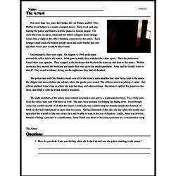 Print <i>The Arrest</i> reading comprehension.