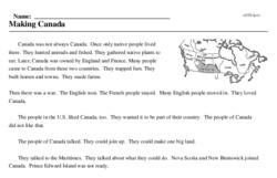 Print <i>Making Canada</i> reading comprehension.