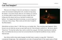 Print <i>Can You Imagine?</i> reading comprehension.