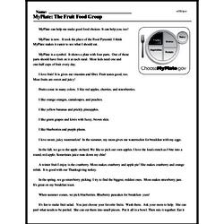 Print <i>MyPlate: The Fruit Food Group</i> reading comprehension.