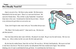 Print <i>Do I Really Need It?</i> reading comprehension.