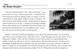 Print <i>The Radar Readers</i> reading comprehension.