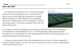 Print <i>Save the Soil!</i> reading comprehension.