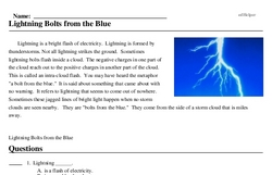Print <i>Lightning Bolts from the Blue</i> reading comprehension.