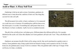 Print <i>Acid or Base: A Fizzy Soil Test</i> reading comprehension.