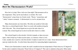 Print <i>How Do Thermometers Work?</i> reading comprehension.