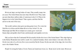 Print <i>Rivers</i> reading comprehension.