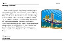 Print <i>Mining Minerals</i> reading comprehension.