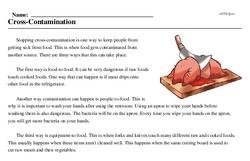 Print <i>Cross-Contamination</i> reading comprehension.