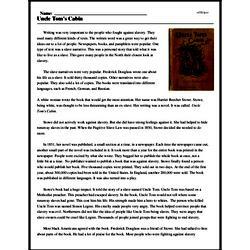 Print <i>Uncle Tom's Cabin</i> reading comprehension.