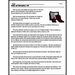 Print <i>Make an Emergency Aid</i> reading comprehension.