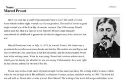 Print <i>Marcel Proust</i> reading comprehension.