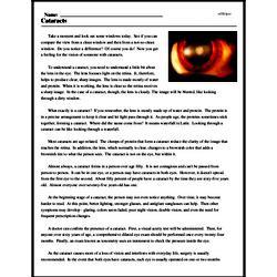 Print <i>Cataracts</i> reading comprehension.