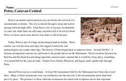 Print <i>Petra, Caravan Central</i> reading comprehension.
