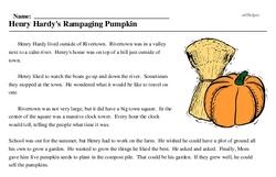 Print <i>Henry Hardy's Rampaging Pumpkin</i> reading comprehension.