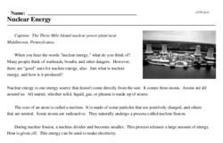 Print <i>Nuclear Energy</i> reading comprehension.